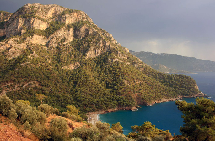 The soaring pine-covered coastlines of the ancient Lycian Way