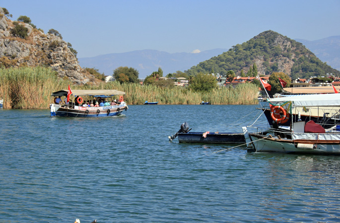 Explore the Dalyan River delta by boat