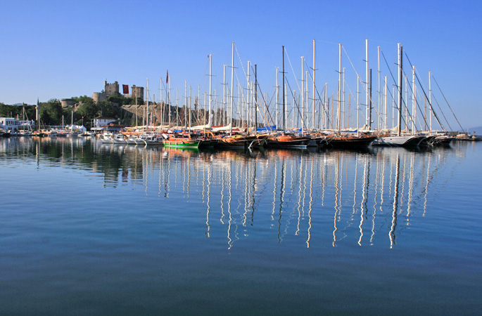 The Castle of St Peter and Bodrum harbour