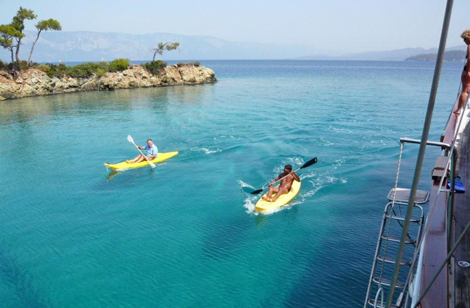Canoeing & water sports in the turquoise waters of the Turkish Aegean