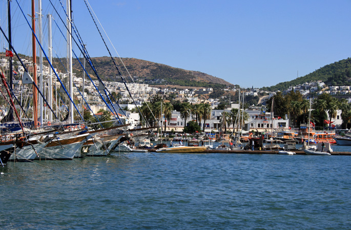 Bodrum harbour, the centre for the gulet yacht Blue Cruise