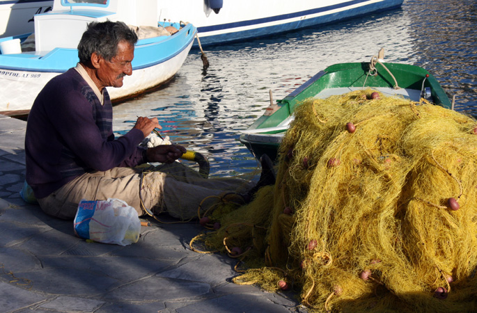 Local fishermen of the Dodecanese Islands