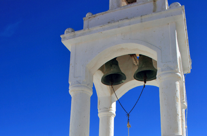 Typical Greek church bell tower
