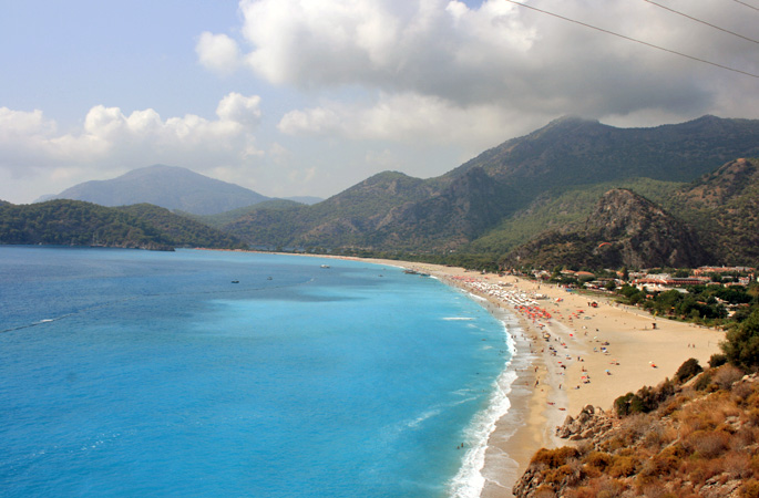 The famous beach and lagoon in Olu Deniz, Turkey