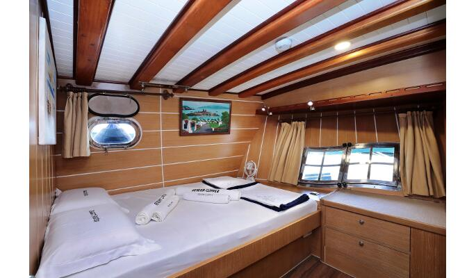 Perfect for large groups, Aegean clipper under sail