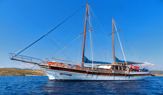 23m Gulet charter yacht Ariva I ideal for families with max 12 guests