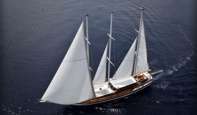 Dolce Vita under sail