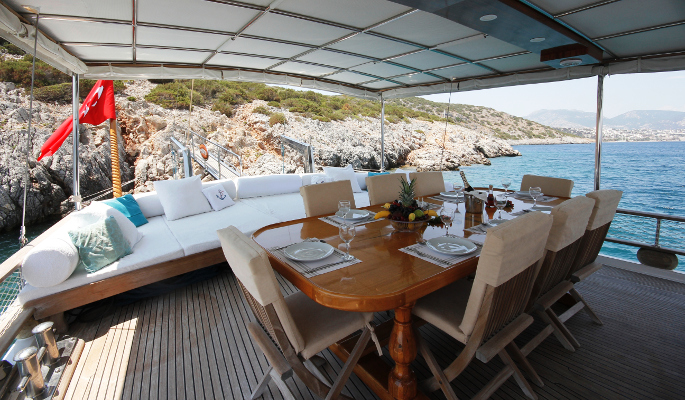 Swimming and canoeing off Feraye in beautiful bays along Turkey's Aegean coast