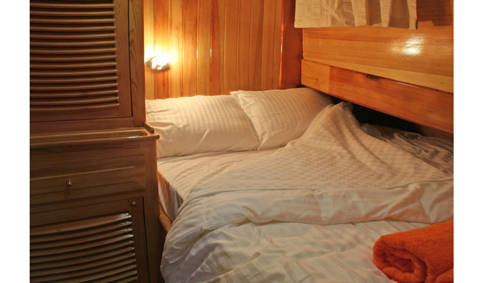 3 comfortable double cabins each with en suite bathroom