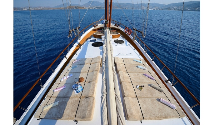 View of deck from forward