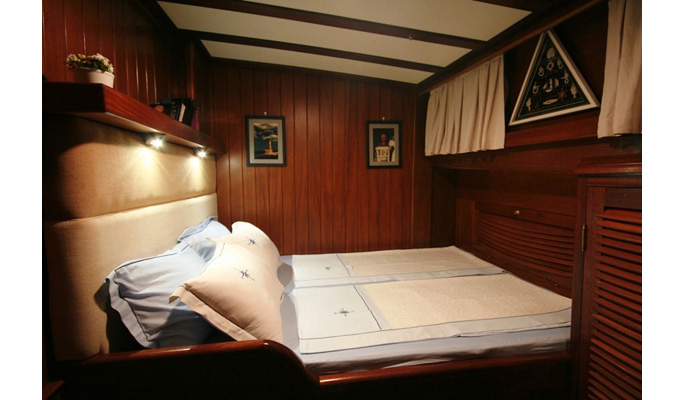 Beautifully fitted luxury gulet yacht accommodation