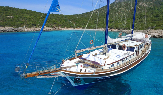 Classic 26m Turkish gulet Kaya Guneri I for up to 14 guests in 7 cabins