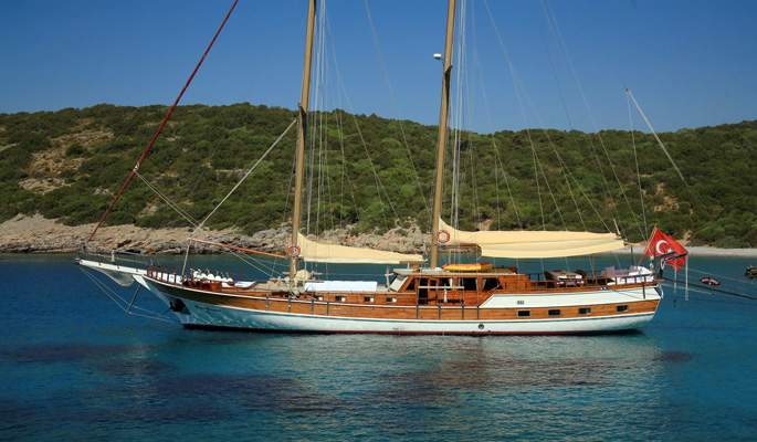28m Turkish gulet Kaya Guneri II for up to 12 guests in 6 cabins