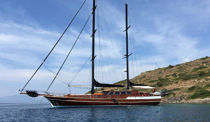 >35m Traditional Turkish gulet Kaya Guneri Plus for up to 12 guests in 6 cabins
