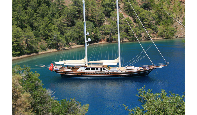 34.6m Luxury gulet charter yacht Kaya Guneri V with 6 cabins for 12 guests
