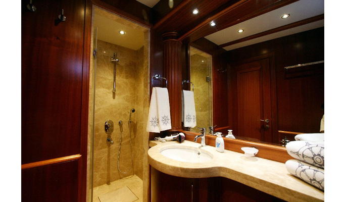 All en suite bathroom have solid marble shower stall, bidet and WC