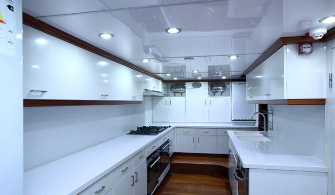 Well equipped modern galley