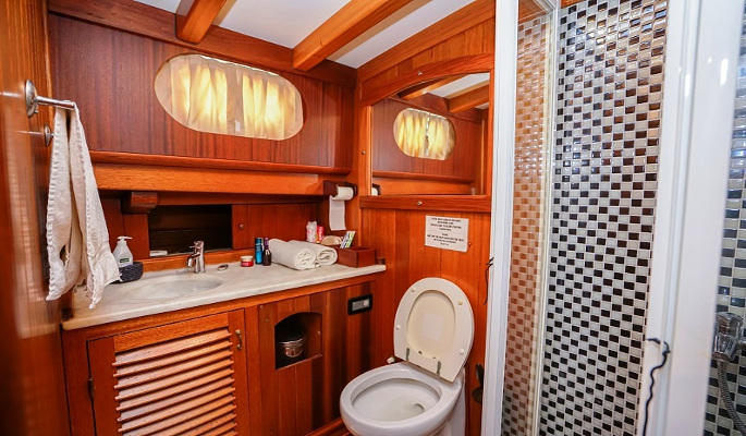 1 double cabin with en suite shower/WC