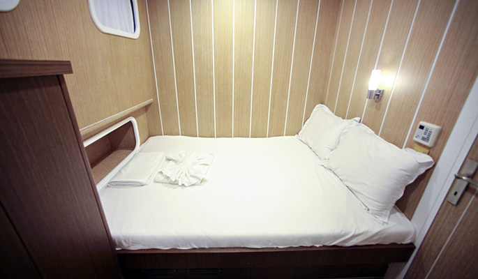 Comfortable double cabin