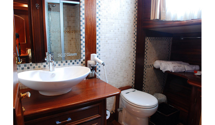 Large en suite bathroom with hydro massage shower