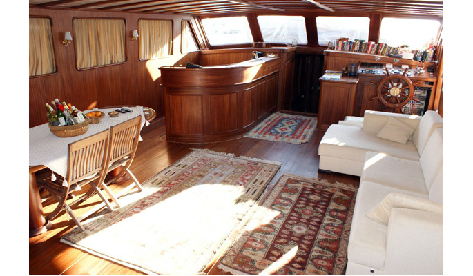 Spacious and relaxing interior saloon area
