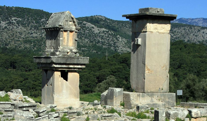Ancient ruins at Xanthos