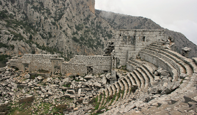 Mountain top amphitheatre near Antalya