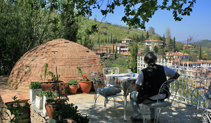 Hotel terrace in Sirince near Ephesus