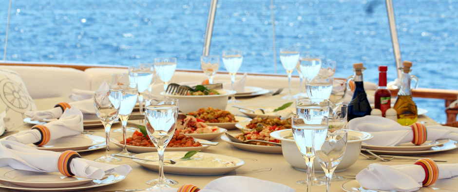 Mouthwatering Turkish- Mediterranean Cuisine Prepared By Your Chef On Board